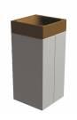 Betonový odpadkový koš  BETO X základní hnědý