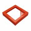 Betonový odpadkový koš  BETO IX základní červený