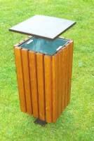 Dřevěný odpadkový koš