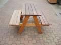 Magda - dvojitá lavice  se stolkem bez stříšky