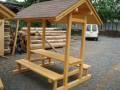 Tekla - dvojitá lavice se stolkem a stříškou