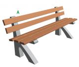 Betonová lavička Beta A