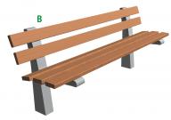 Betonová lavička Beta B