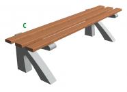 Betonová lavička Beta C