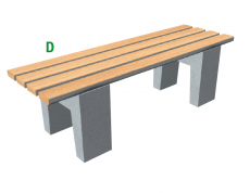 Betonová lavička Beta D